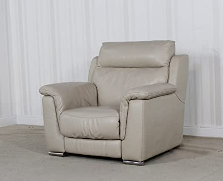 Miraculous Homeflair Designer Gilder Cream Leather Recliner Chair 290 Onthecornerstone Fun Painted Chair Ideas Images Onthecornerstoneorg
