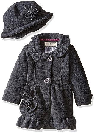 7ed14862f193 Amazon.com  Widgeon Little Girls  Toddler Button Front Bell Coat ...