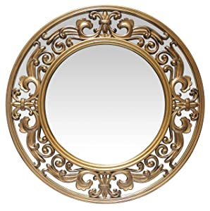 Infinity Instruments Victoria 23.5 Inch Brushed Gold Wall Mirror