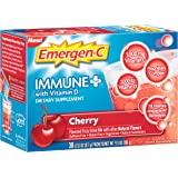 Emergen-C Immune+ (30 Count, Cherry Flavor) System Support Dietary Supplement Drink Mix With Vitamin D, 1000mg Vitamin C, 0.31 Ounce Packets