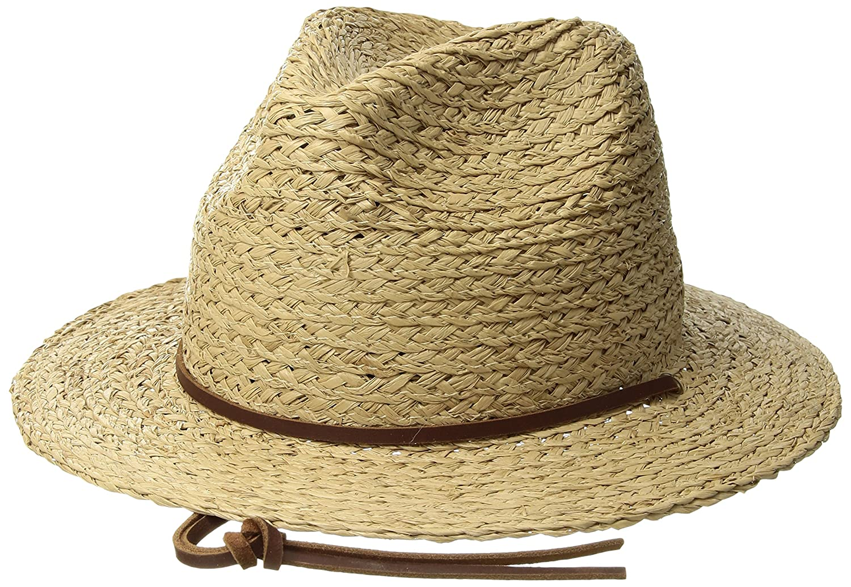 Amazon.com  Brixton Men s Levon Short Brim Straw Fedora Hat  Clothing 7aab261ad62