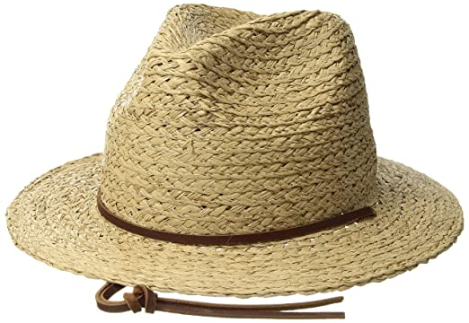 666fd81c944a1c Amazon.com: Brixton Men's Levon Short Brim Straw Fedora Hat: Clothing