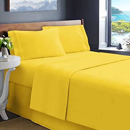 Genial Hearth U0026 Harbor Soft Luxury Best Quality Double Brushed Microfiber Fitted Bed  Sheets, Queen,