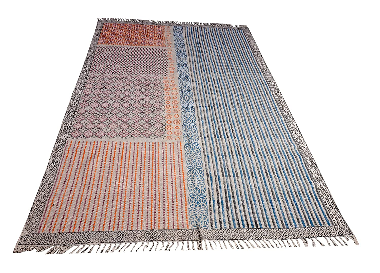 Amazon.com: Maruti Exports Cotton Handloom Yoga mat/Rug(42 ...