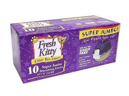 Amazon.com   Fresh Kitty Super Jumbo Super-Thick Litter Box Liners ... c13b7fa1a7153