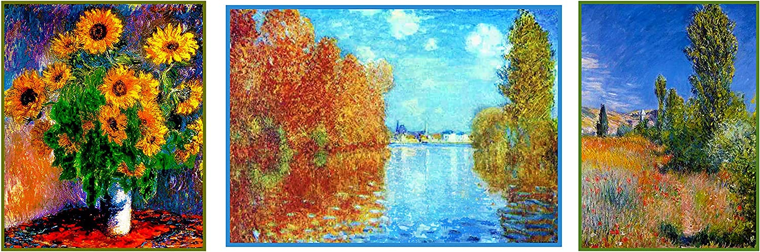 Impressionist Monet Deluxe Treasury # 2-3 Counted Cross Stitch Patterns Charts