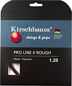 Kirschbaum Set Pro Line II Rough 120 Tennis String 1.20mm/18 Gauge, Black