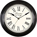 Towcester Clock Works Co. Acctim 26703 Redbourn Horloge murale (Noir)