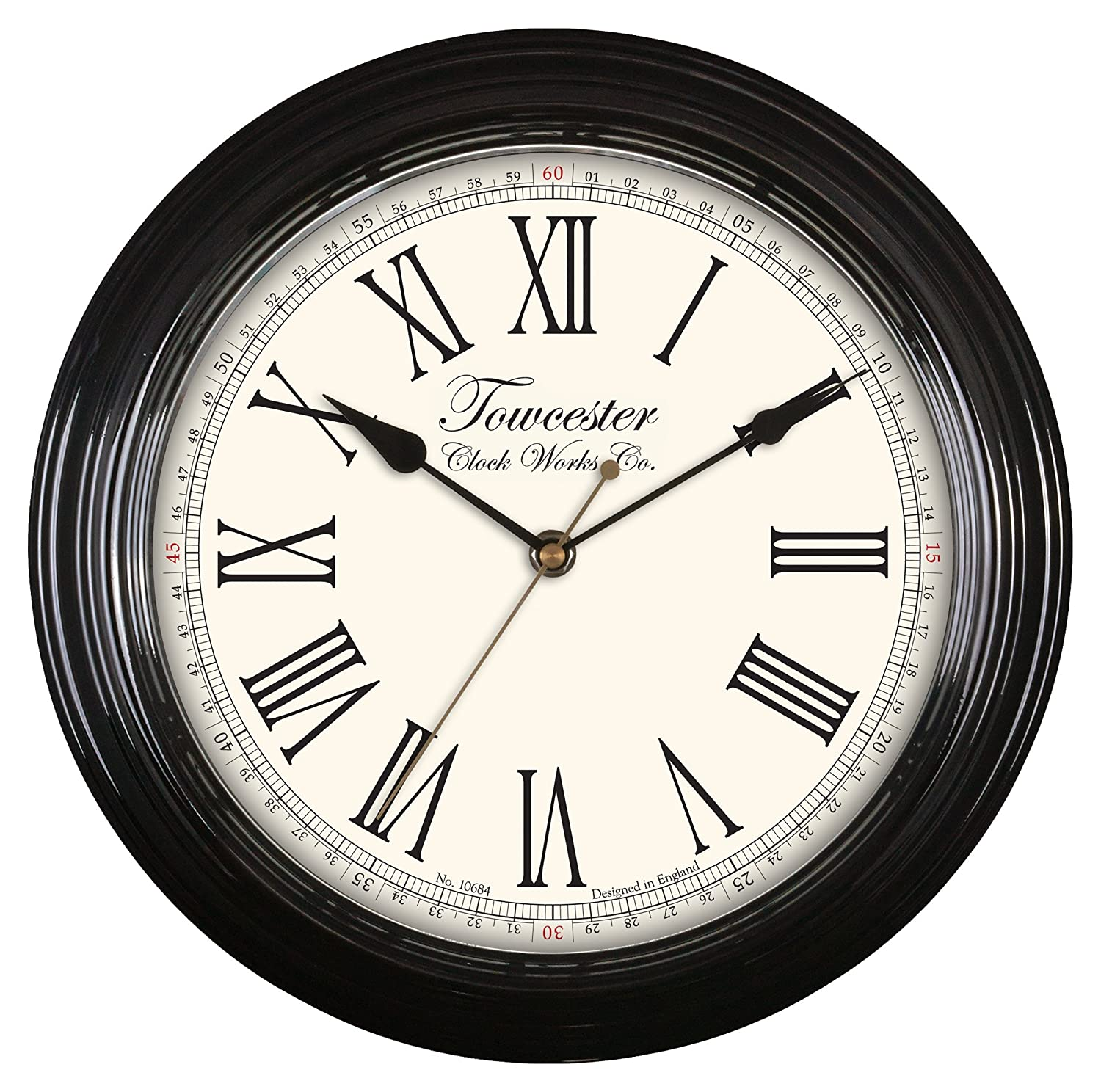 Acctim 26703 Redbourn Wall Clock, Black