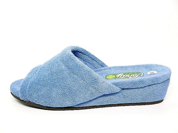 9b142cab Zapatilla de verano mujer estar por casa marca VANITY en rizo color azul  azafata - 540 - 33