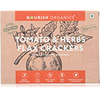 Nourish Organics Tomato and Herbs Flax Crackers 90Gr
