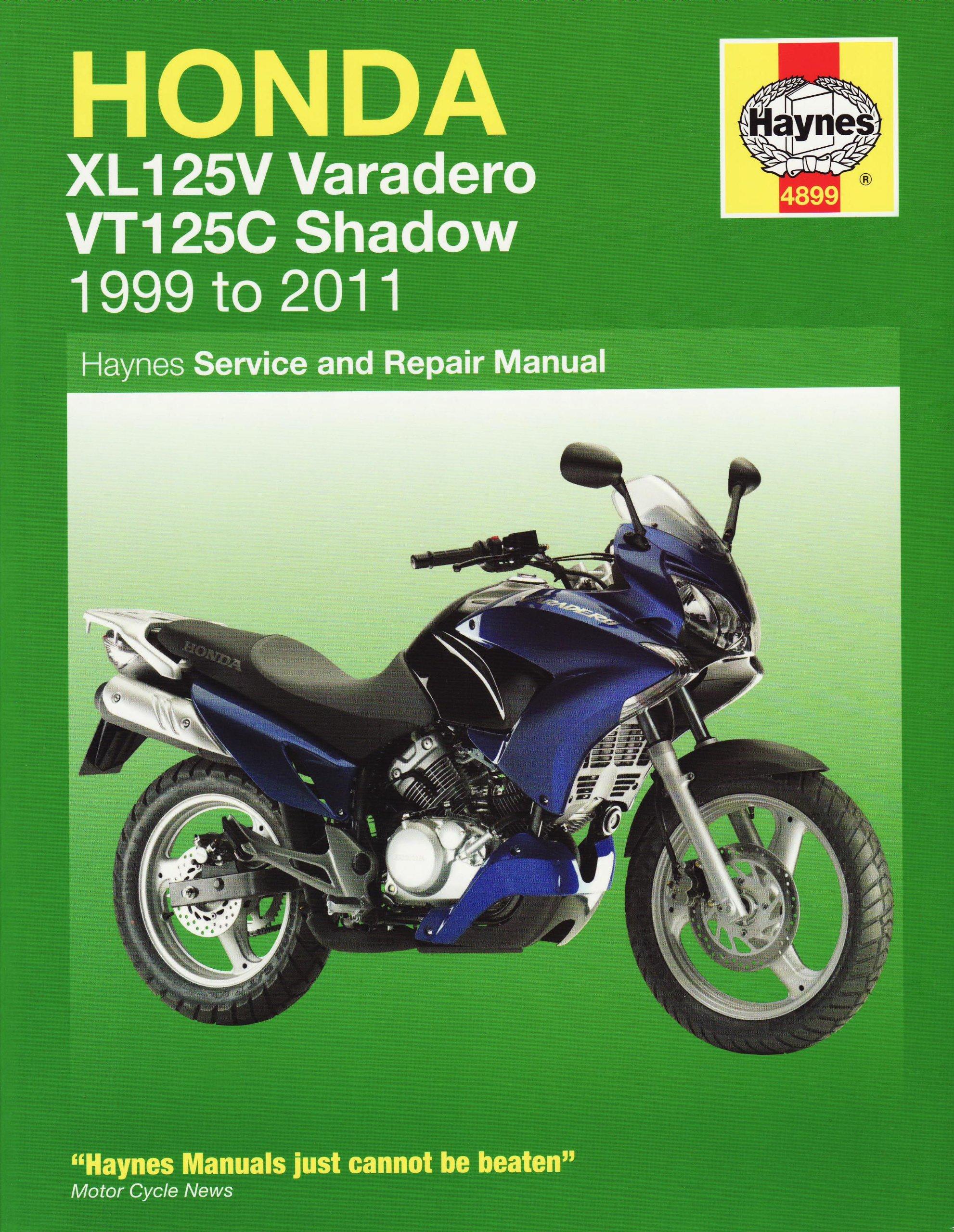 Honda XL125V & VT125C 1999 - 2011 (Haynes Motorcycle Manuals):  Amazon.co.uk: Anon: 9781844258994: Books