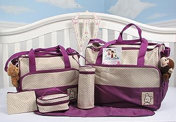Amazon.com: Ellie & Luke (lavanda) bolsa de pañales con ...