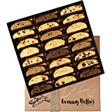 Granny Bella's Artisan Biscotti Food Gift Baskets 24 Gourmet Italian Cookies Prime Gifting for Holiday Mothers & Fathers Day