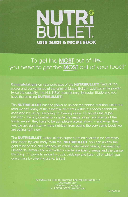 amazon com nutribullet user guide recipe book pocket rh amazon com Nutribullet Recipe Book Ninja Bullet