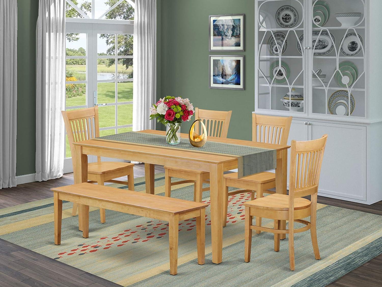 Rectangle Antique Walnut Finish East West Furniture CN6-0N-T