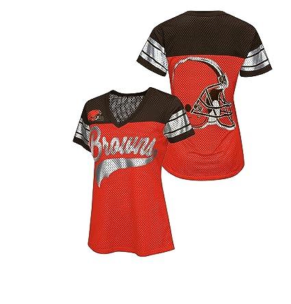 1274e29b Cleveland Browns Women's Game Winning Drive Jersey Style Shirt