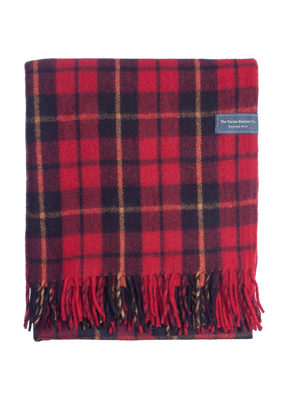 Classic Wool Blanket in Wallace Tartan B00ZGA1IXW