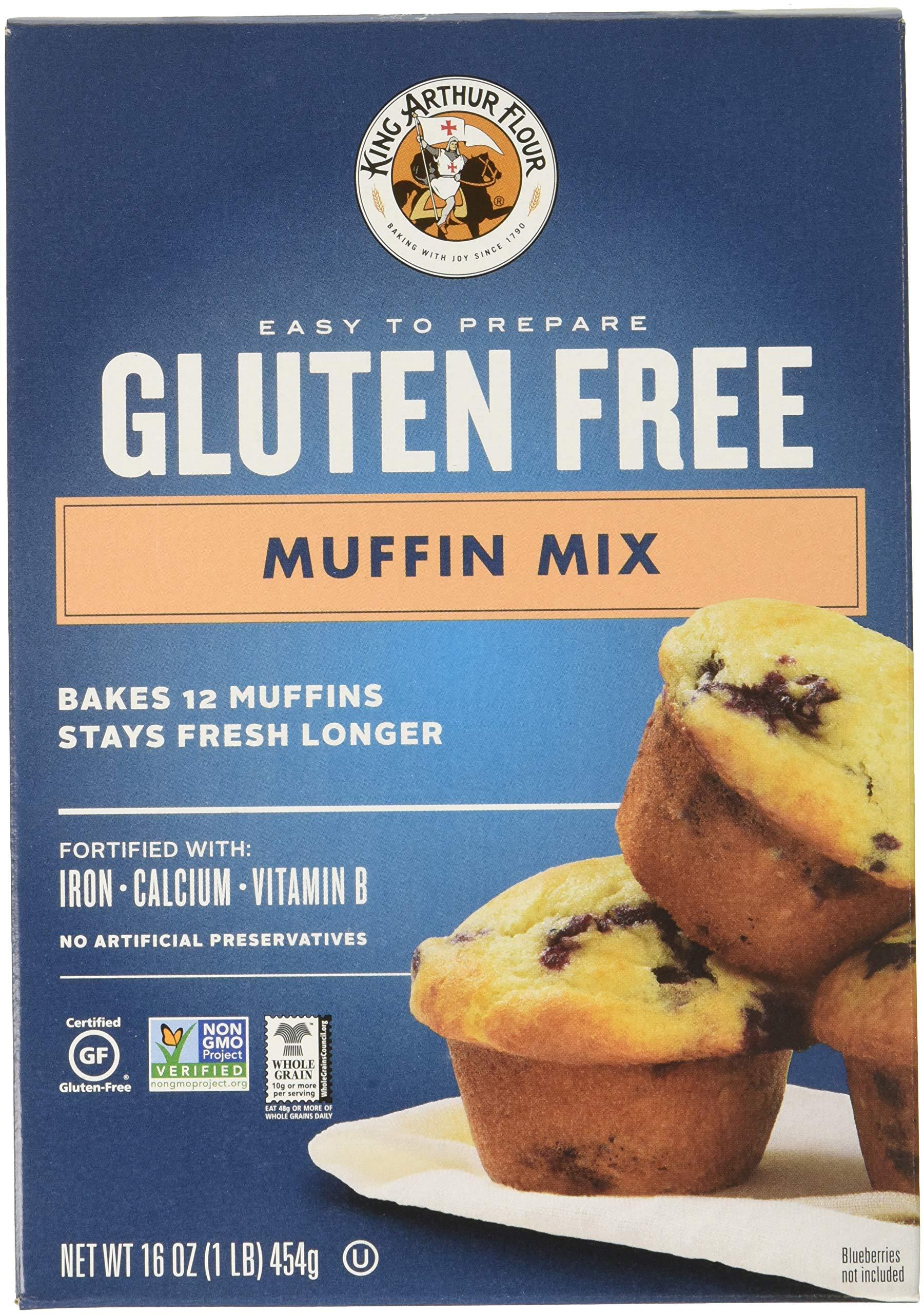 King Arthur, Mix Muffin GF, 16 OZ (Pack of 6) by King Arthur Flour