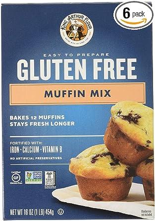King Arthur, Mix Muffin GF, 16 oz (Pack de 6): Amazon.com ...