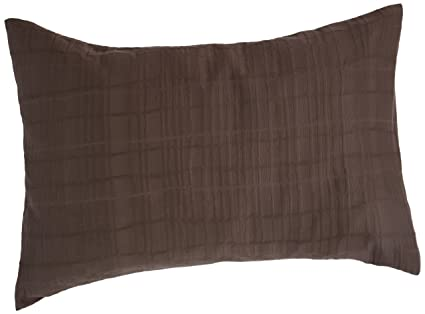 Amazon Calvin Klein Madeira Jagged Grid Standard Sham Azuki Enchanting Calvin Klein Madeira Decorative Pillow