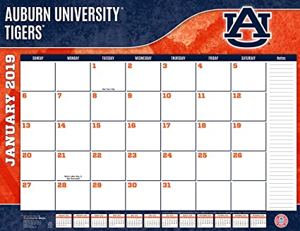 Auburn University 2019 Calendar Amazon.: Turner 1 Sport Auburn Tigers 2019 22X17 Desk Calendar