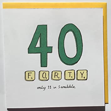 40th Birthday Card Scrabble Amazon Office Products