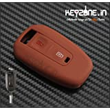 Keyzone Silicone Key Cover For Tata Indica Vista / Manza 2 Button Remote Key (Brown)