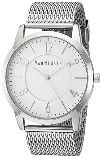 Amazon.com: Van Heusen Mens Quartz Metal and Alloy Dress Watch, Color:Silver-Toned (Model: VAN8032): Watches