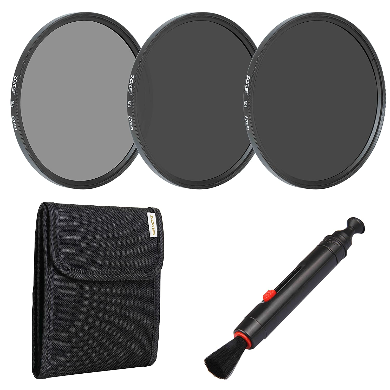 Lens Pen-67mm Filter Pouch ND4 ND8 Neutral Density Filter for Camera ZoMei Lens Filter Set ND2