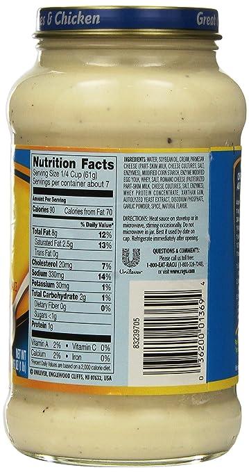 Ragu Alfredo Sauce Nutrition Facts - Blog Dandk