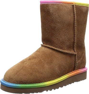Classic Short Rainbow Boots, Chestnut