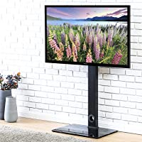 FITUEYES Swivel Floor TV Stand with Mount for 32 to 55 inch LED LCD Flat/Curved Screen, Save Space TT106001MB