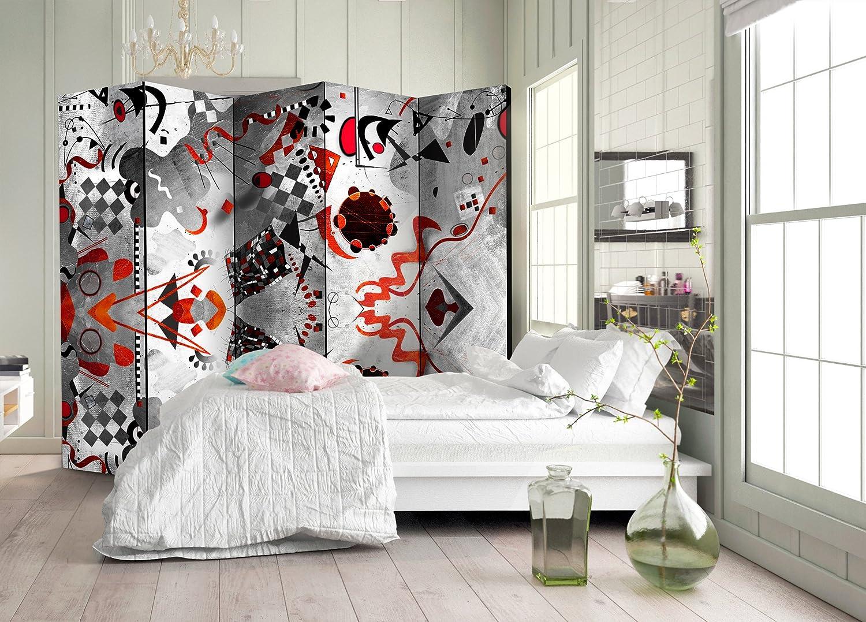 murando Paravent /& Tableau daffichage en Liege Beton Graffiti 135x172 cm Reversible Impression sur Papier intiss/é 100/% Opaque Paravent decoratif pour Chambre Paravent en Bois Gris i-C-0120-z-b