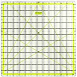 Arteza Acrylic Quilters Ruler - 12.5 x 12.5 inch - Double-Colored Grid Lines