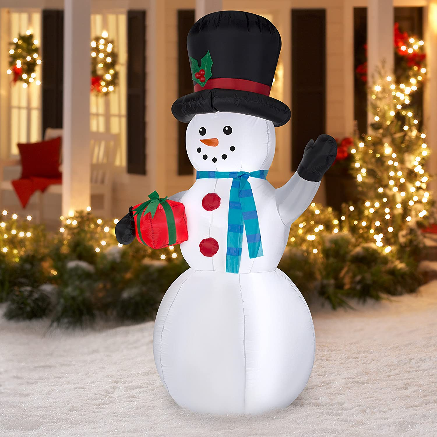 Amazoncom Airblown Christmas Inflatable Snowman 7Ft Tall Cell Phones &