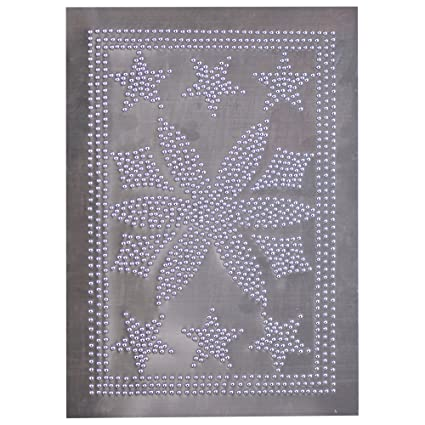 Country new DAISY STAR unfinished tin cabinet panel nice