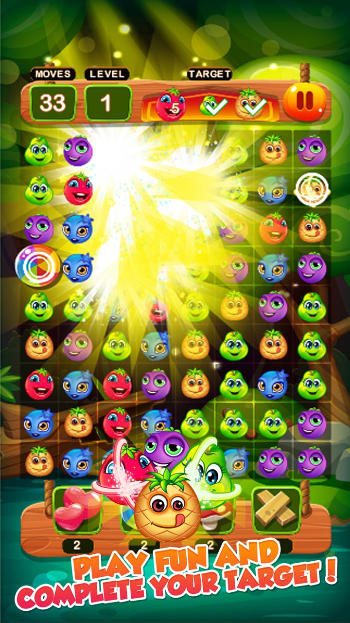 Frutas Crush Mania - Amigos del bosque Match 3 juego de ...