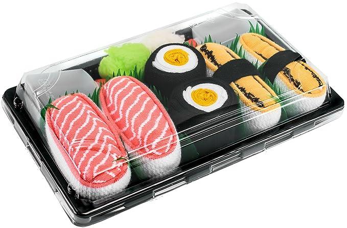 Sushi Socks Box - 3 pares de CALCETINES: Maki de Oshinko, Tamago, Salmón