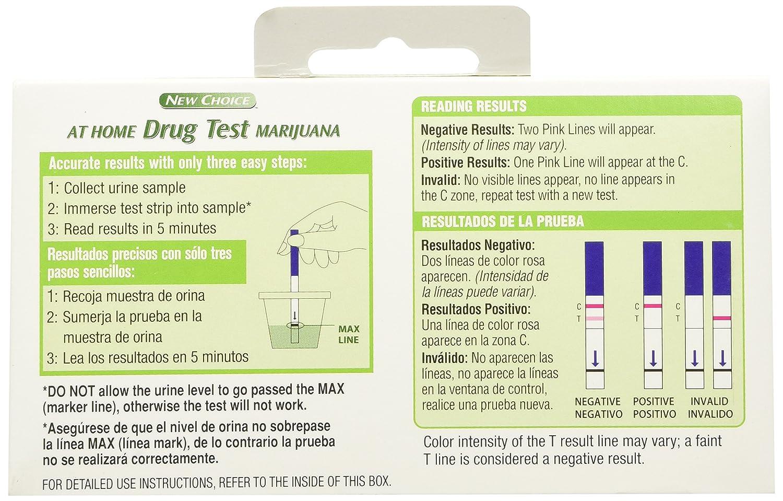 At Home Drug Test >> Amazon Com New Choice At Home Drug Test Marijuana Pot Health