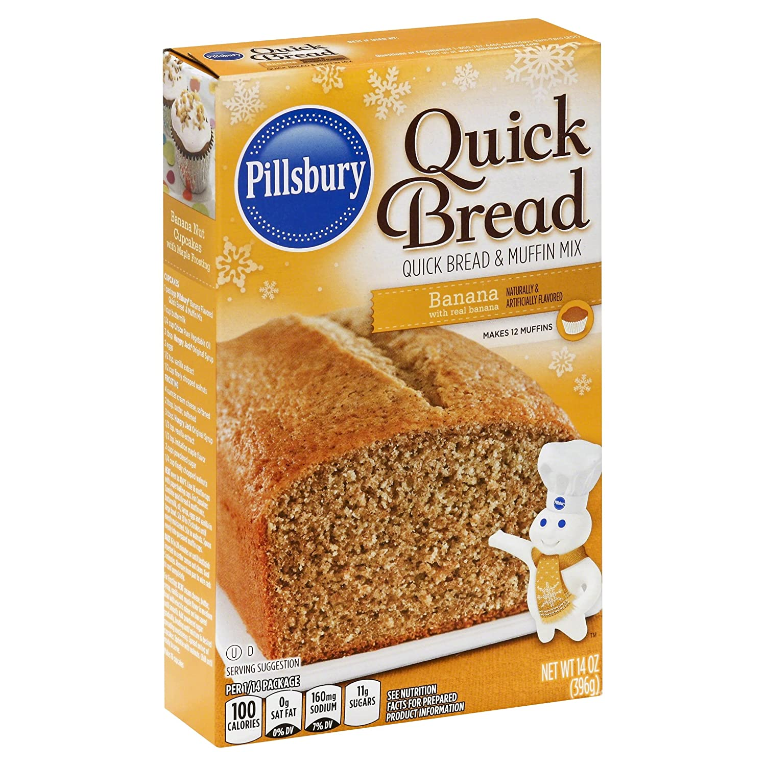 amazon com pillsbury quick bread mix banana 14 oz grocery