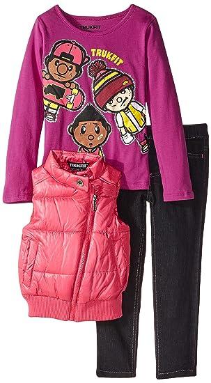 Amazon Com Trukfit Little Girls 3x Dope 3 Piece Vest Set Clothing