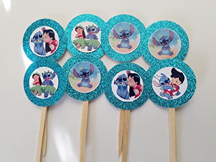 Amazon 8 Lilo Stitch Cupcake Toppers 1st First Baby Shower