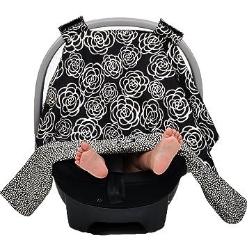 Balboa Baby Car Seat Canopy Black Camellia