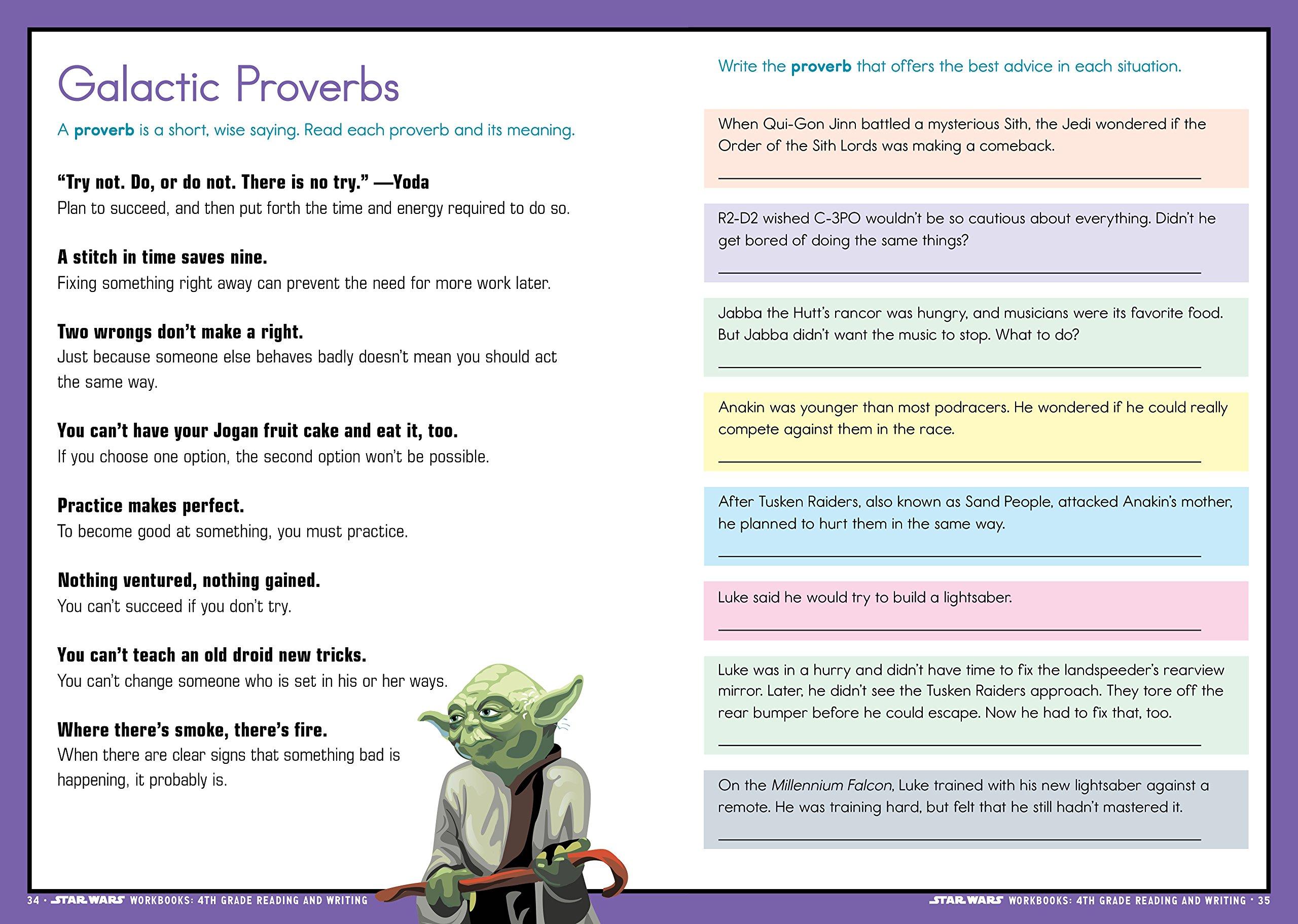 - Star Wars Workbook: 4th Grade Reading And Writing (Star Wars
