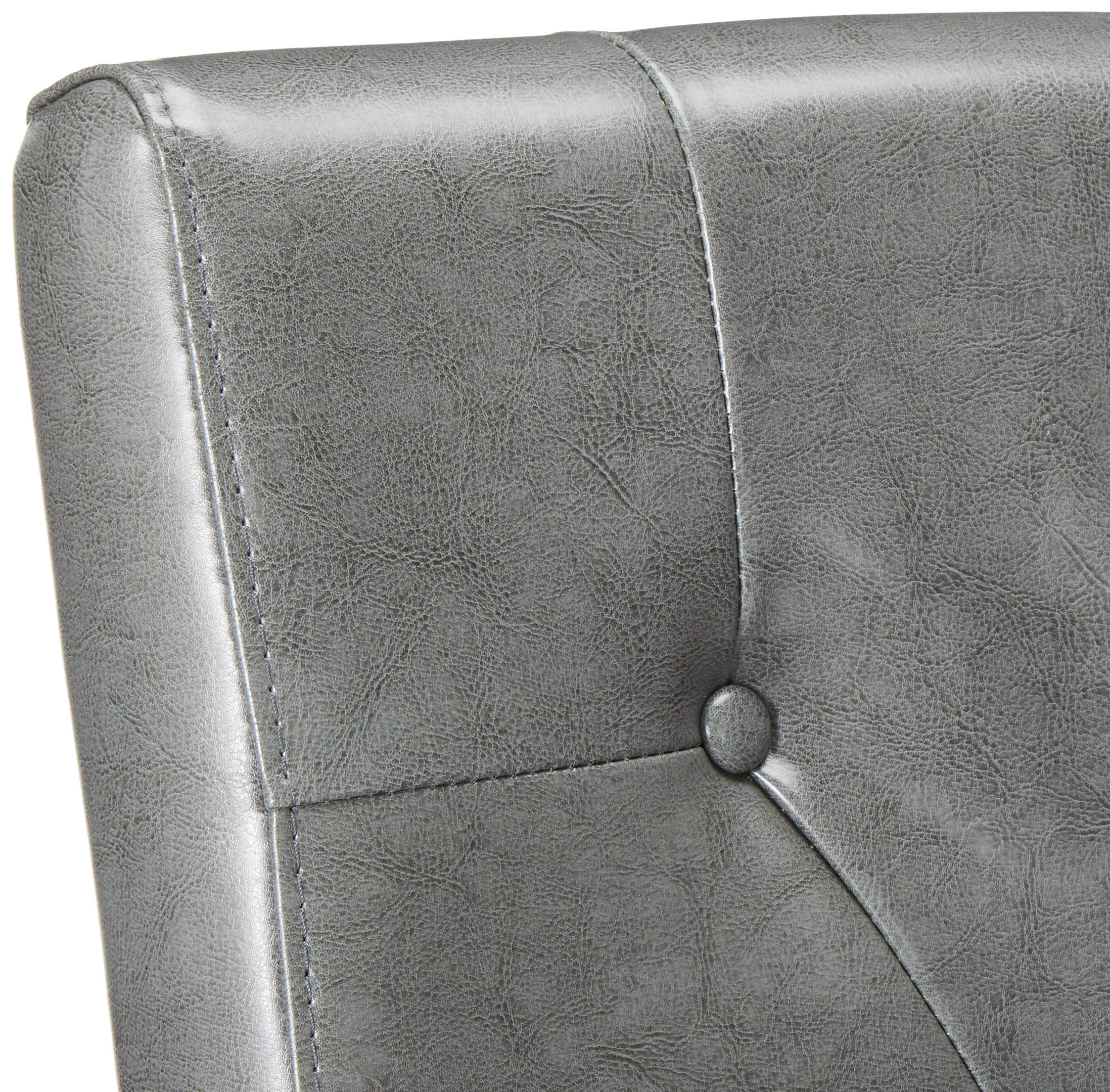 Christopher Knight Home 214519 Alexander Grey Leather Dining Chairs (Set of 2), by Christopher Knight Home (Image #4)