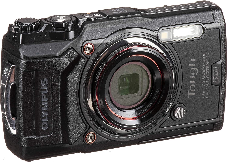 Amazon.com: Cámara digital Olympus Tough TG-6 (negro) con ...