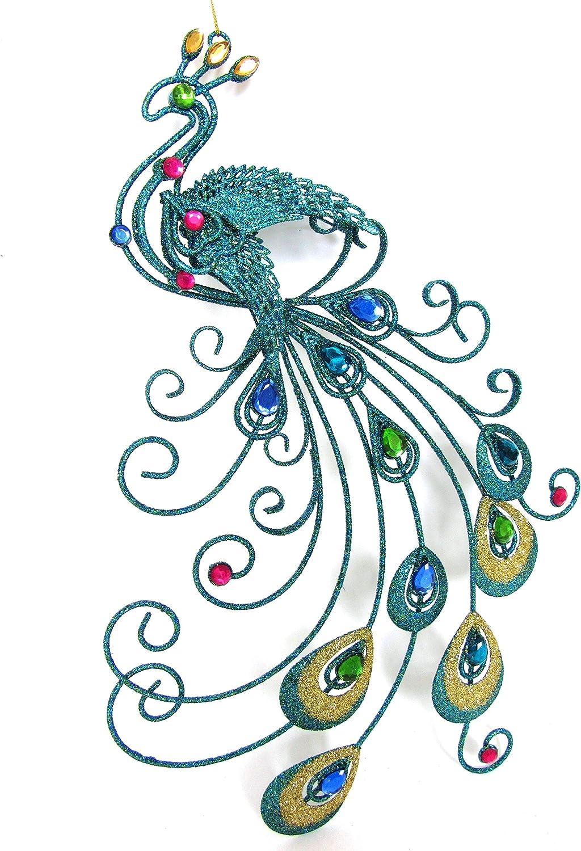 Luxury Sparkly Peacock//Bird Hanging Decoration Gisela Graham
