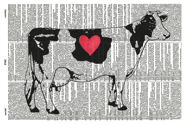 Amazon Com Cow Art Print Kitchen Art Print Vintage