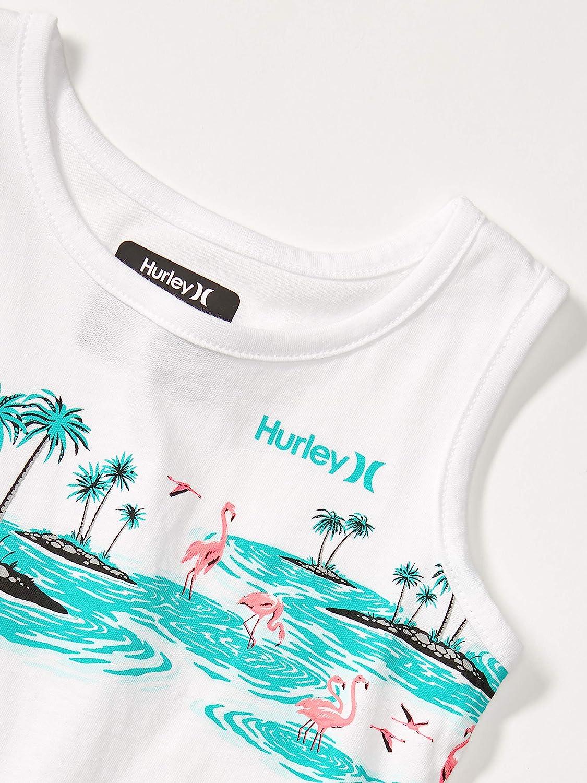 6 White//Flamingo Hurley Boys Graphic Tank Top